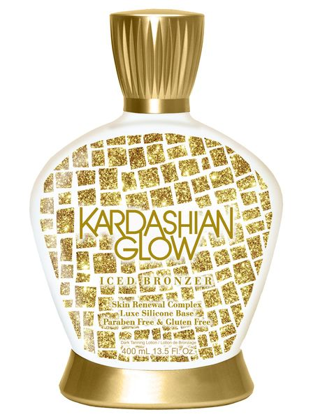 NEW Kardashian Glow Iced Bronzer includes Skin Renewal Complex and Cooling Technology #tanning