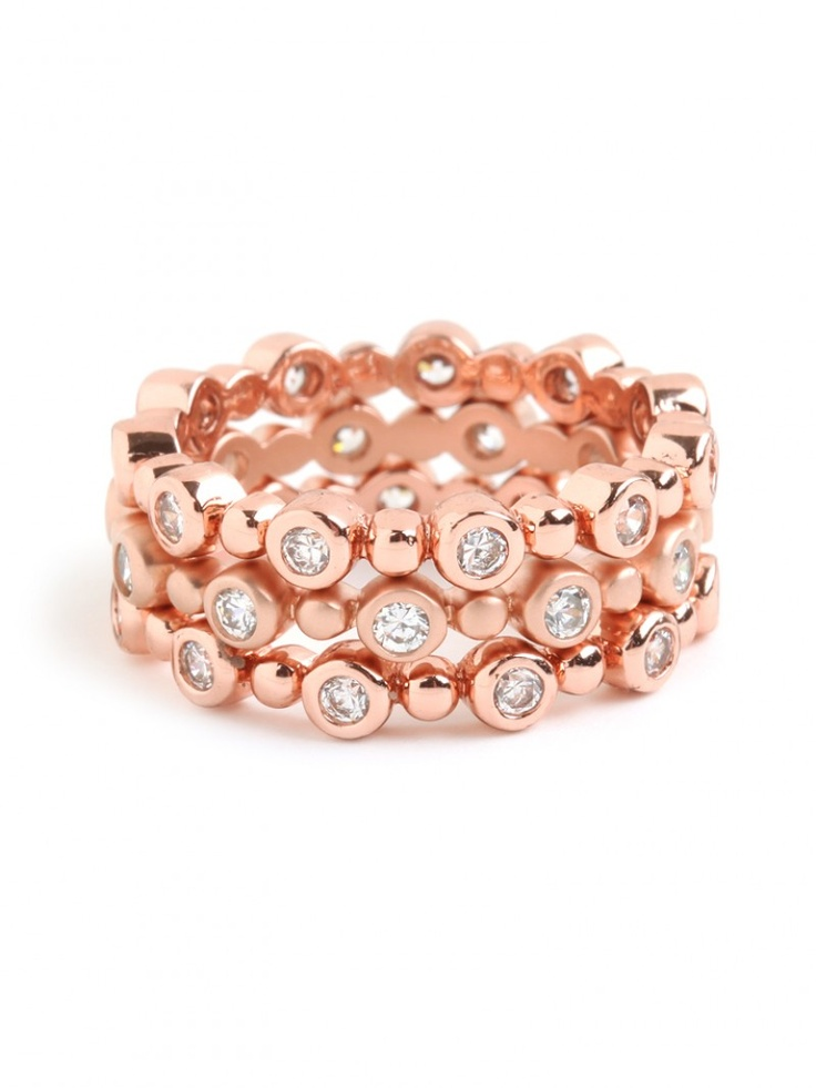 rose stack ring trio / baublebar
