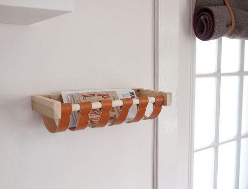 something like this // diy in-house mail holderMail Baskets, Ideas, W Ds Mailbox09, Diy Mail, Diy Leather Baskets, Around The House, Mail Holders, Mail Boxes, Diy Projects