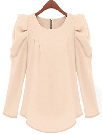 Shop Apricot Puff Sleeve Zipper Slim Blouse online. Sheinside offers Apricot Puff Sleeve Zipper Slim Blouse & more to fit your fashionable needs. Free Shipping Worldwide!