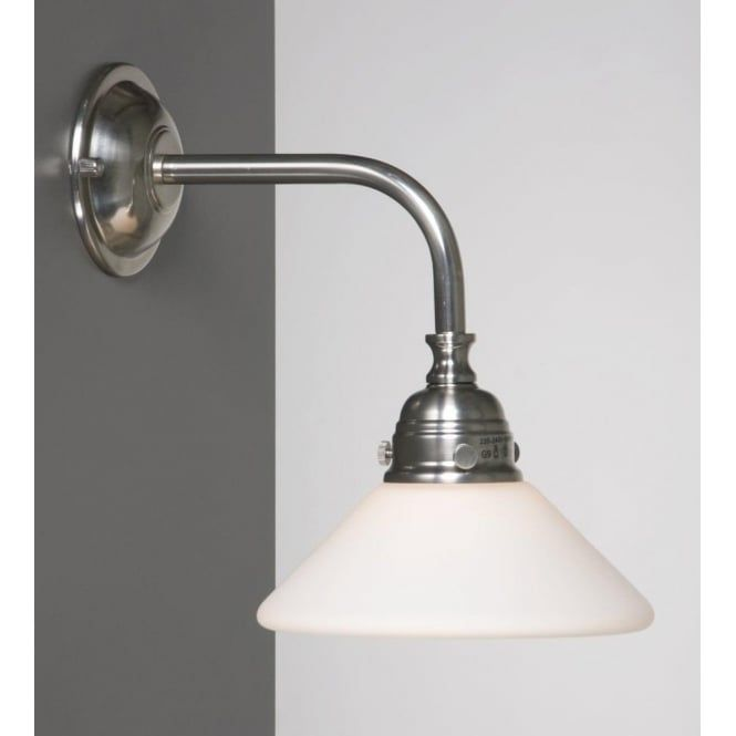 The Old Fashioned Look Of This Single Wall Light Makes It Ideal For Lighting  In Period. Bathroom Mirror ...
