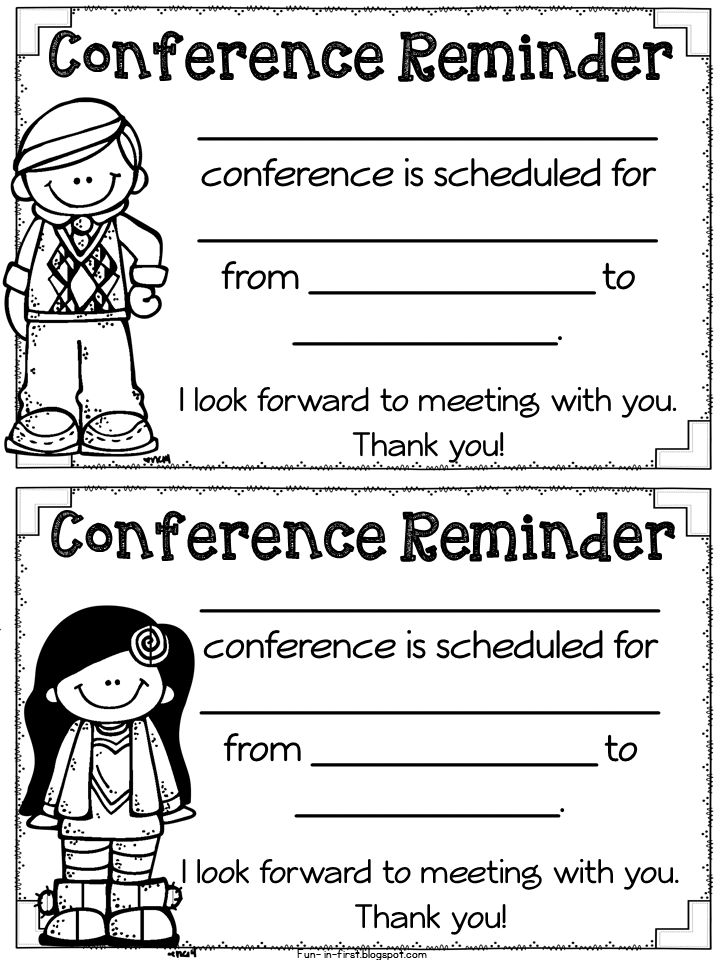 Parent Teacher Conference Time and Must Have FREEBIES - Fun in First