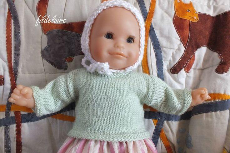 tuto pull pour poupée bébé Corolle 30 cm