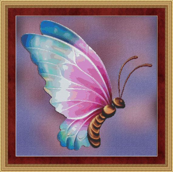 Counted Cross Stitch Pattern Flutter no 4 by StitchXCrossStitch, $2.95
