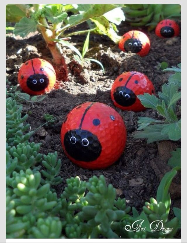 ❤️Mini Ladybug Golf Balls For Decor❤️ #Home #Garden #Trusper #Tip