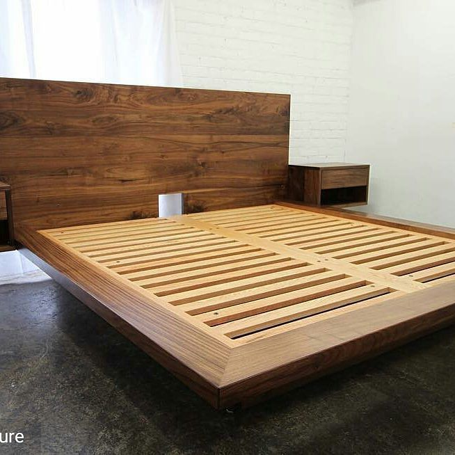 Lovin' this bed!!!! . . Props to @akroydfurniture . Walnut king size platform bed with cantilevered side tables. Delivering this along with a dresser to NY state shortly. Got my x-border trucking certification so there will be some road trips in my future! #walnutplatformbed #platformbed #studiofurniture #interiordesigntoronto #toronto  #furnituredesign #furniture #bedroom #bedroomdecor #bedroomfurniture #bed #decorate #decor #homedecoration #homedesign #homedecor #interiordesigner…