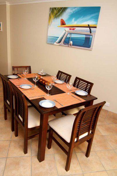 Crystal Beach - dining area - Tugun Accommodation 3 Bedroom Apartments