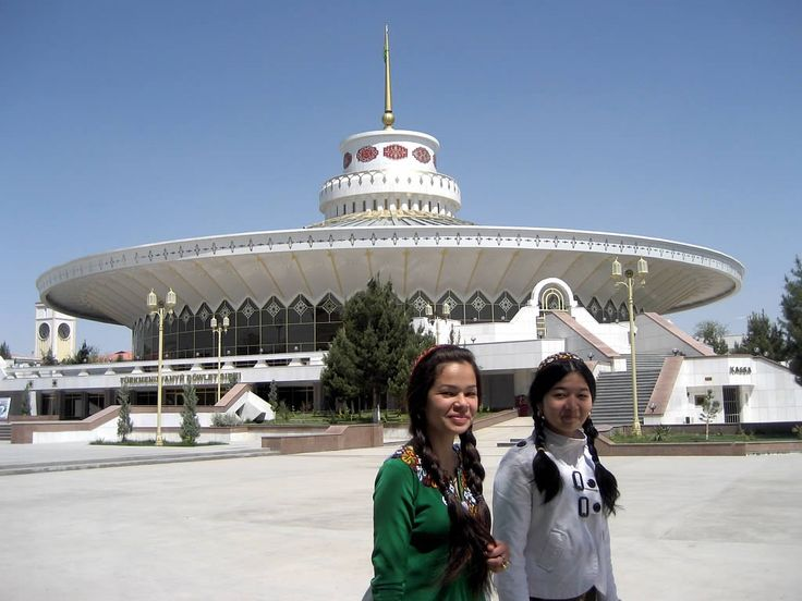 girls passing the Circus in Ashgabat, Turkmenistan