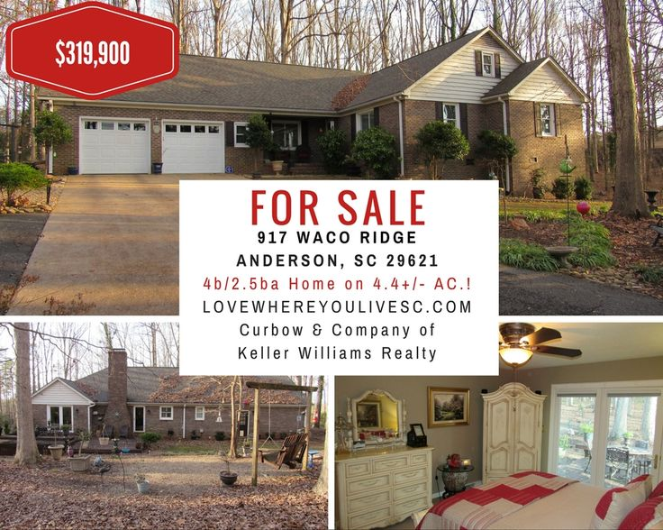 New on Market! Location, Location, Location! This Spacious 4BR/2.5BA home is nestled on its Private 4.38+/- Acres just minutes to Clemson Blvd., Hwy 81N, and I-85!  Schedule Your Showing Today! (864) 934-0712!