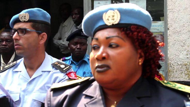 24 H avec un Casque Bleu: Chef Secteur UNPOL Celestine Dombwa
