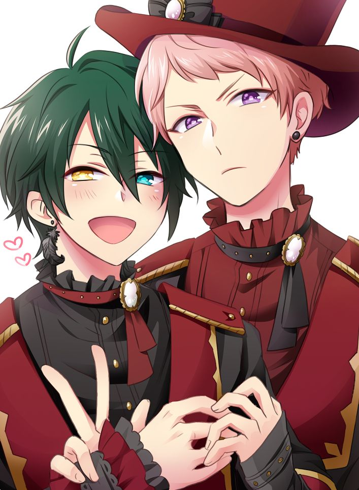 Ensembles stars Mika and Shu