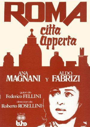 Movie poster Roma Citta aperta premiered 1945 -- play in the background?