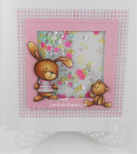 JenniferD's Blog: MFT Snuggle Bunnies Baby Card