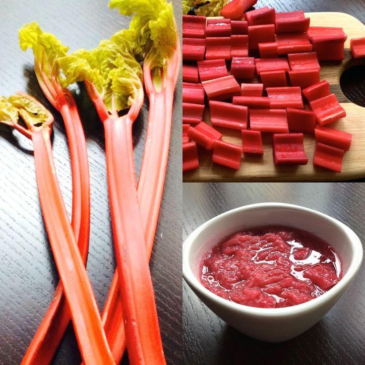 Rhubarb – raw, chopped and stewed