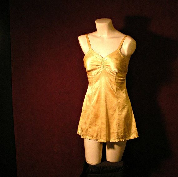1950's Pin Up Yellow Bathing Suit with Geometric by iswasvintage