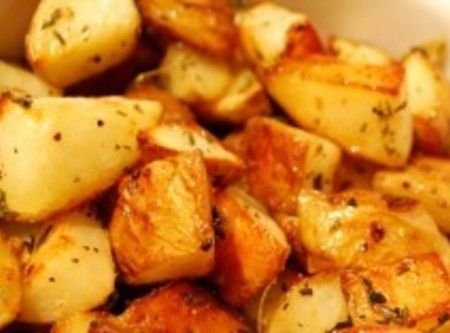*Cheesy Garlic Herb Roasted Potatoes* Recipe | Just A Pinch Recipes