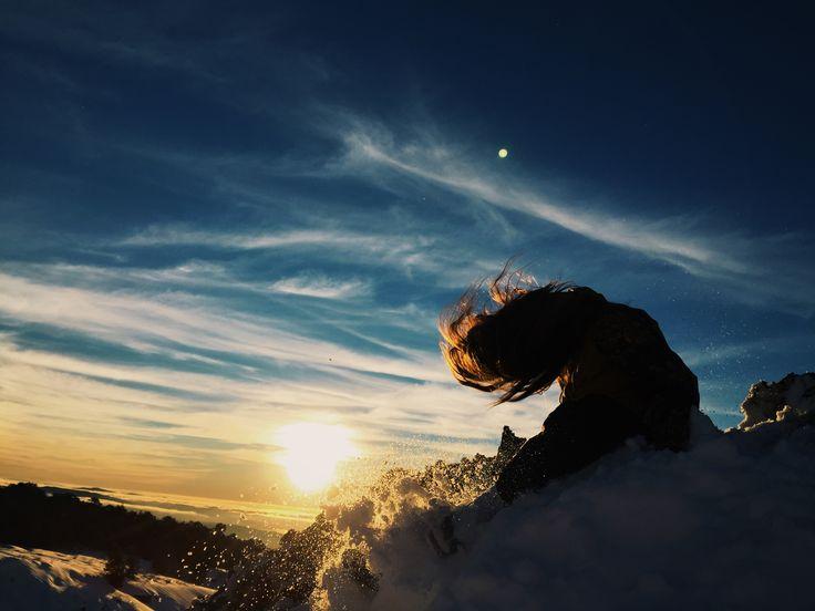 snow sunset @constanzadelafuente