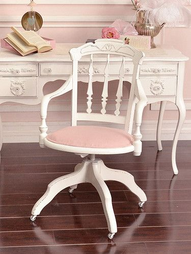 Best SHABBY COTTAGE CHIC Images On Pinterest Crafts Home   Shabby Chic  White Desk Chair