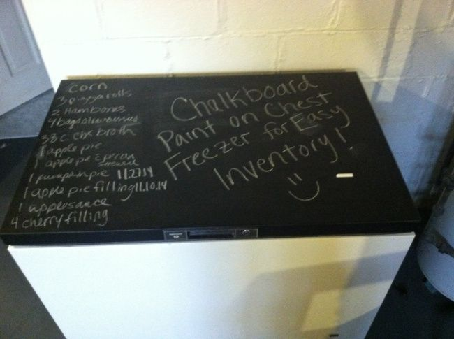 Frugal Friday: Paint the Top of Your Chest Freezer with Chalkboard Paint!