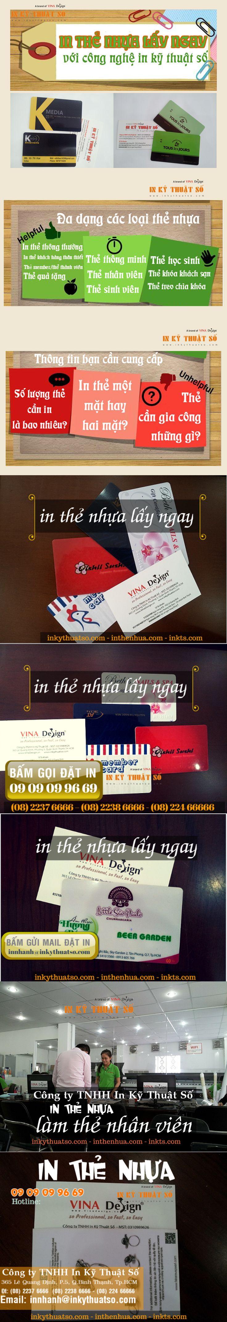 Thông tin hình ảnh cho dịch vụ in thẻ nhựa lấy ngay tại Cty TNHH In Kỹ Thuật Số - Digital Printing