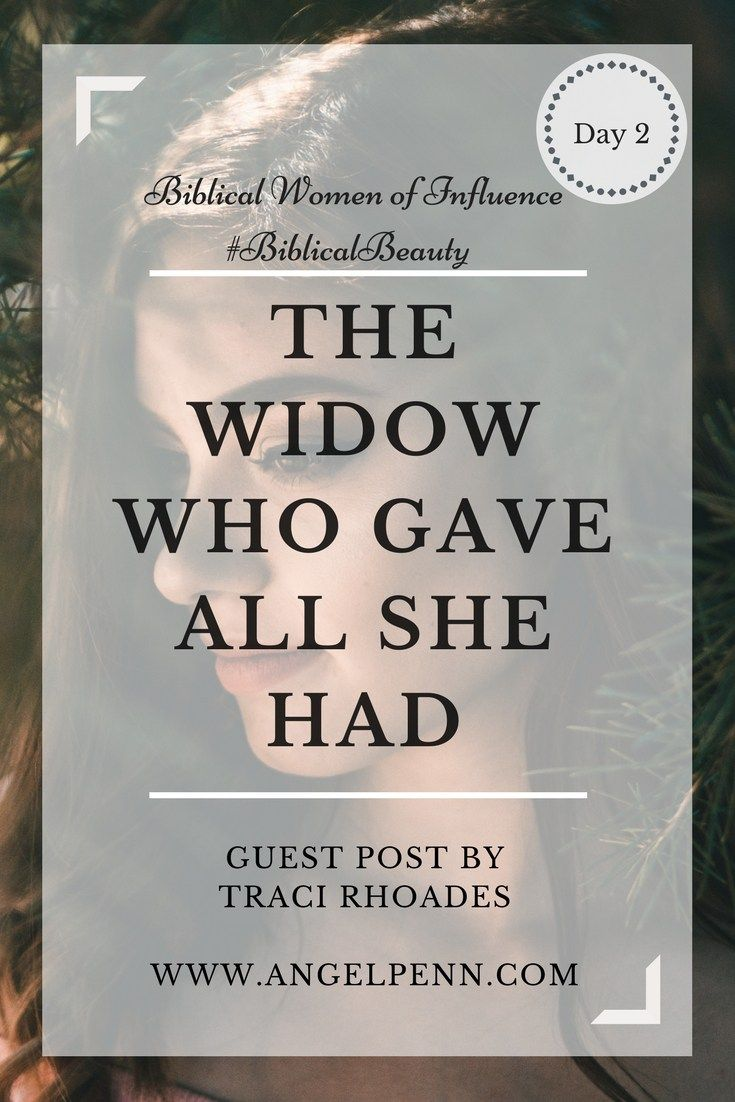 The Unnamed Widow Who Gave All That She Had To Jesus Estudo