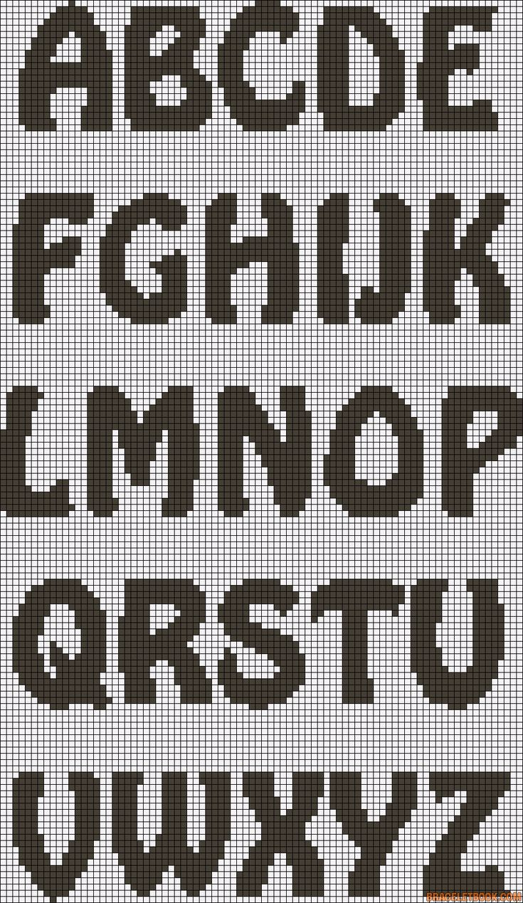 ABC Alphabet perler bead pattern