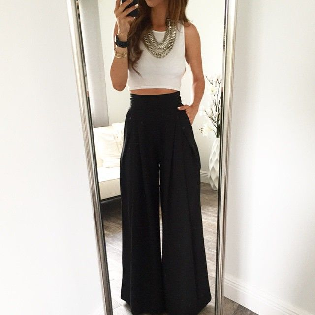 Photo from ohmboutique | UK holiday outfit | Pinterest | Birthday photos Palazzo pants and Trousers