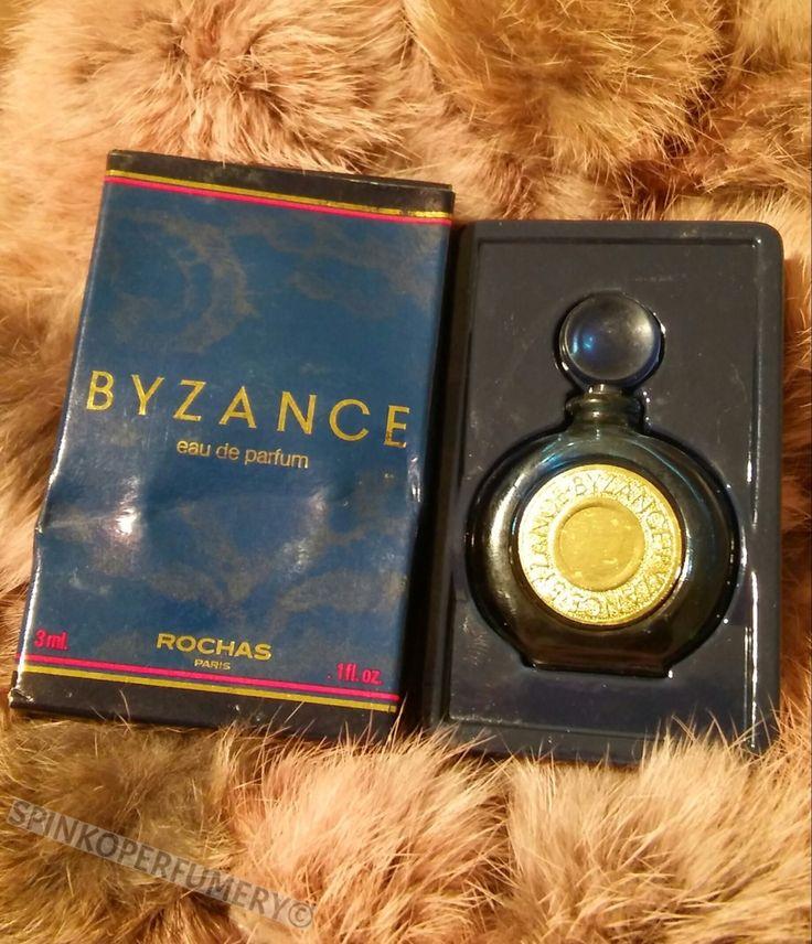 Rare Vintage 1987 Boxed Rochas Byzance Perfume Eau de Parfum .1 FL OZ 3ml Splash Perfume 100% Full
