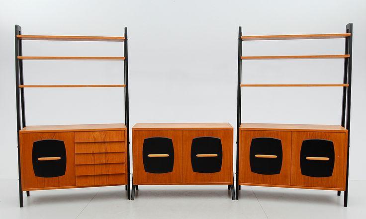 Bokhylla, 3 delar,  u0026quot;Tema u0026quot;, Gillis Lundgren, Ikea, 1950   60 tal    Inredning  decoration