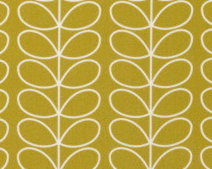 Orla Kiely Linear Stem custom retro curtains and roman blind #mustard #yellow #linearstem #orlakiely