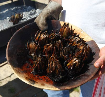 Carciofi Arrostiti (Roasted Artichokes) Recipe - Saveur.com