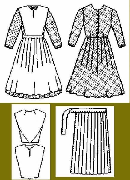 Amish Women Dress Pattern Free Download  List