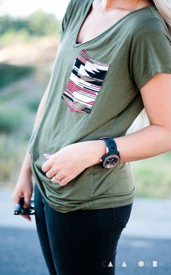 CARA LOREN: Tribal Pocket Shirt DIY Tutorial
