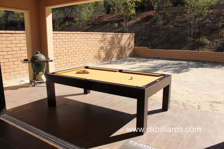 #pooltable #diningtable #outdoorpooltable Outdoor Pool Table Dining Table in One