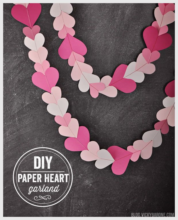 We LOVE paper garlands! Especially this heart-filled one we made for Valentine's Day. It adds the perfect loving touch to an office space, classroom, or even your kitchen! Hang it anywhere you want...