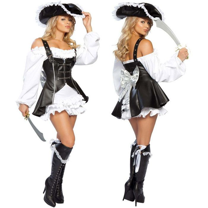 >> Click to Buy << New pirate female temptation sexy costumes dress Sexy Cyclops leather model women pirate costume Halloween costumes dress #Affiliate