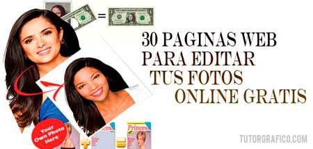 30 Paginas web para editar tus fotos online gratis