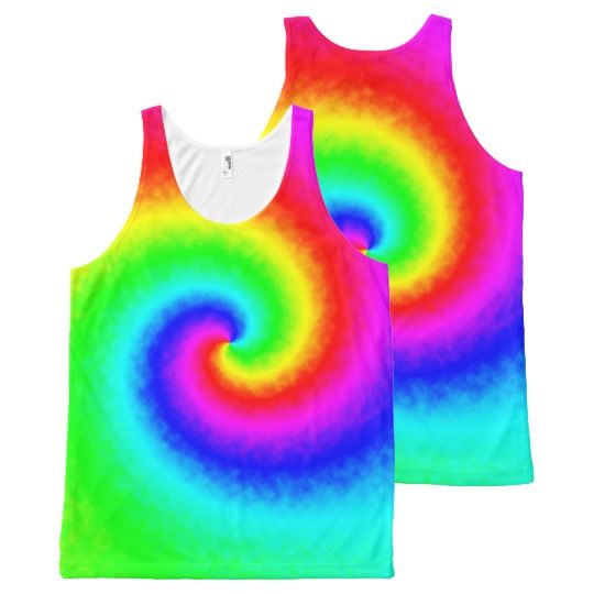 Tie-Dye Rainbow Swirl Women's Tank Top