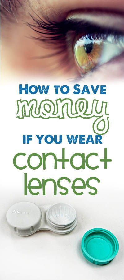 How to save money if you wear contact lenses