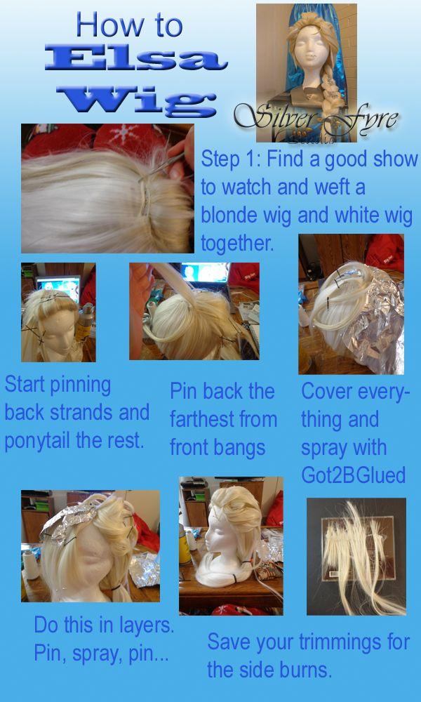 Elsa Frozen wig how to tutorial by Silver-Fyre.deviantart.com on @deviantART