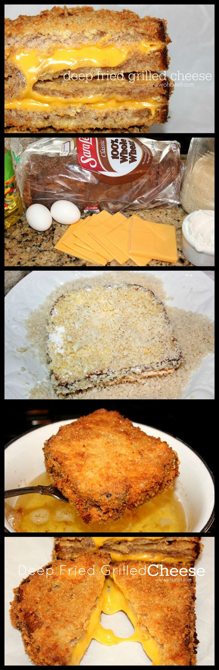 ~Deep Fried Grilled Cheese!
