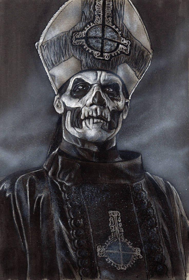Papa Emeritus Ii By Devin Francisco Ghost Papa Dark Art Drawings Horror Artwork