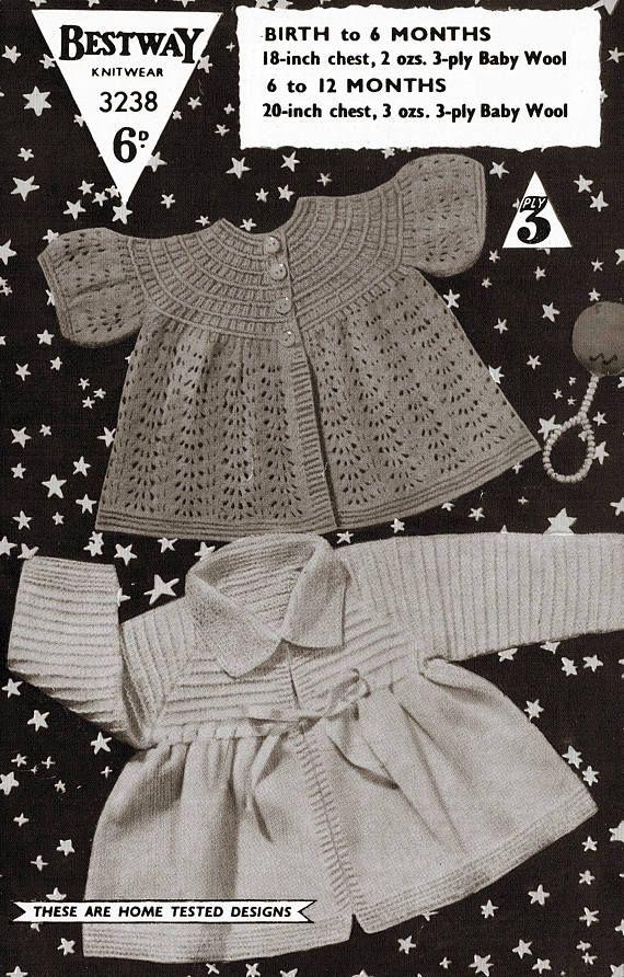 PDF Vintage Baby Knitting Pattern Bestway 1940s or 50s Peter