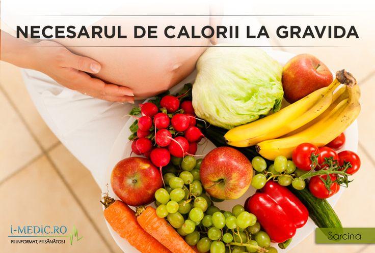 Necesarul caloric pentru o gravida este de 2000-3000 kcal., in functie de gradul de solicitare fizica zilnica. http://www.i-medic.ro/copilul/sarcina/alimentatia-timpul-sarcinii/necesarul-de-calorii-la-gravida