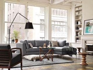 Walnut stool/pedestal: Grey Sofa, Interior Design, Ideas, Livingrooms, Living Rooms, Tolomeo Mega, Family Room, Space