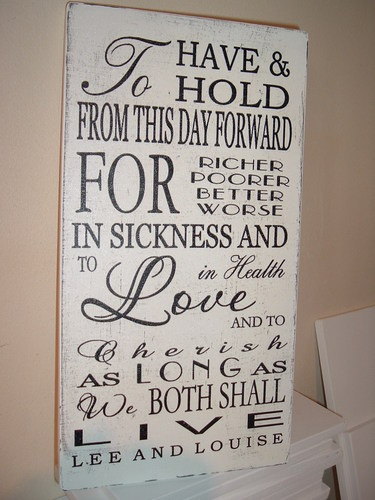 to have & to hold personalised wedding plaque sign