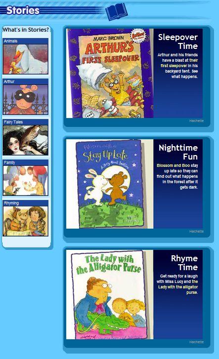 Online picture books read aloud