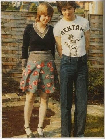 Ian Curtis and Deborah Curtis, shortly after they got engaged. From Debbie's book Touching From a Distance.