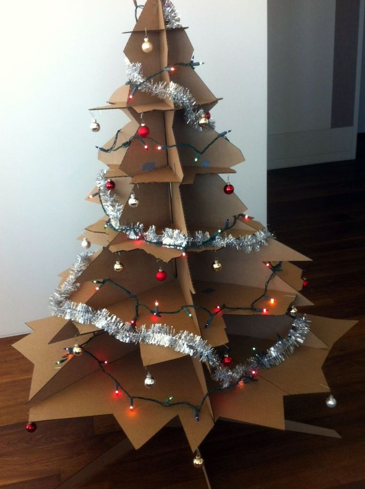 DIY Cardboard Christmas Tree Templates