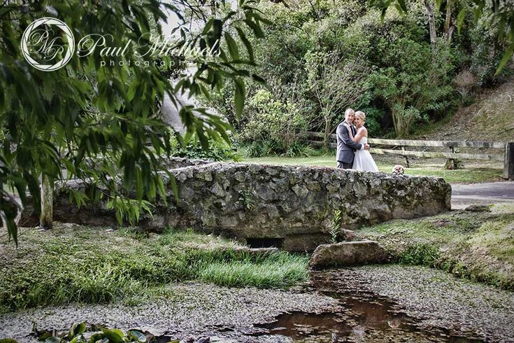The bridge at the Pauatahanui lodge. New Zealand #wedding #photography. PaulMichaels of Wellington www.paulmichaels.co.nz